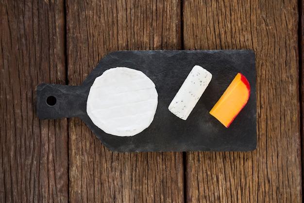 Odmiana sera na talerzu łupkowym