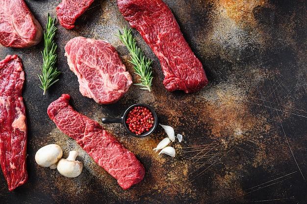 Odmiana, z surowych steków wołowych