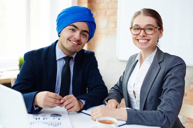 Odnoszący sukcesy pracownicy