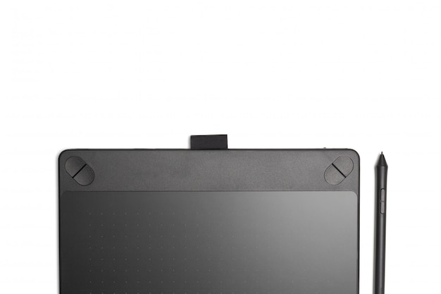 Odosobniona tablet graficzny z piórem dla ilustratorów i projektantów