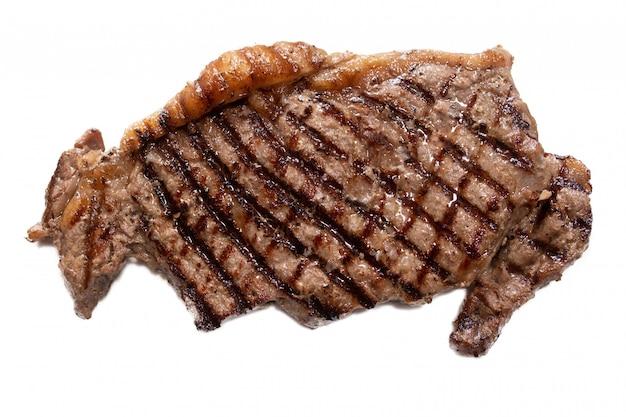Odosobniony grillowany stek wołowy