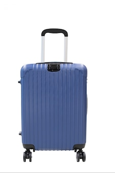 Odosobniony podróż bagaż na białym tle
