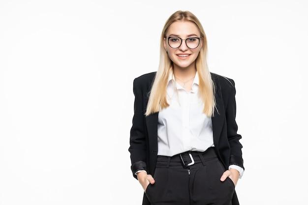 Odosobniony portret młody bizneswoman