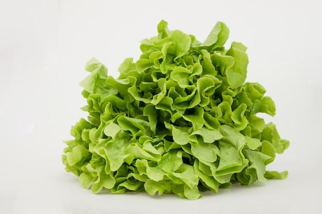 Odosobniony sałaty warzywo na bielu.