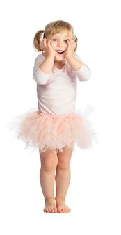 Odosobniony żeński dziecko z spódniczką baletnicy