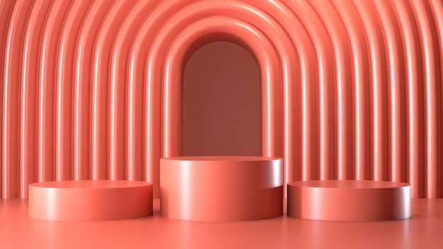 Odpłaca się wizerunek abstrakta menchii koloru geometryczny podium pokaz lub prezentacja