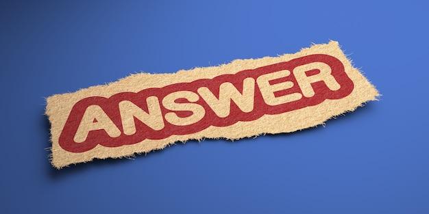 Odpowiedz na słowo z grubego papieru, zakreślone na czerwono