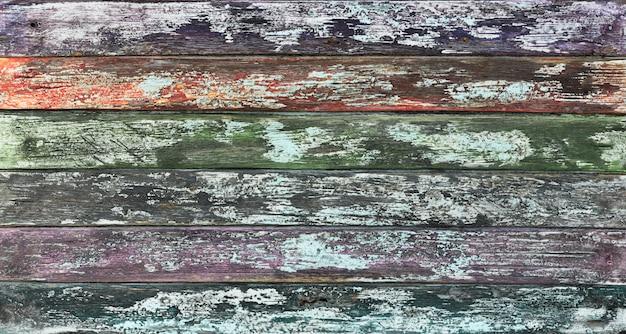Odrapana stara wyblakła drewniana rustykalna ścianavintage twardego drewnagrungy szorstkie szare poplamione tło