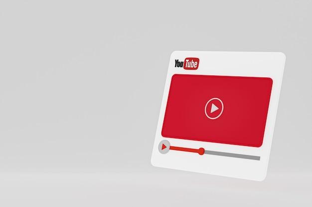 Odtwarzacz wideo youtube projekt 3d lub interfejs odtwarzacza multimediów wideo