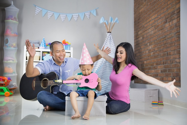 Odtwarzanie muzyki z koncepcją syna