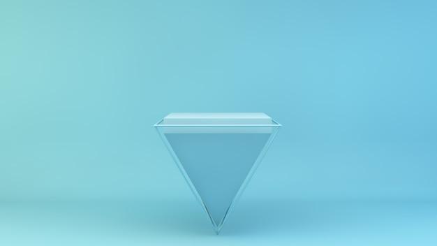 Odwrócona niebieska piramida