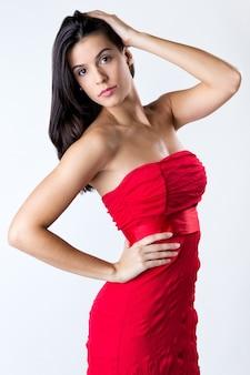 Odzież sukienka modna elegancja kobieta
