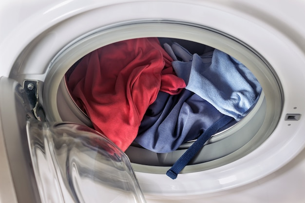 Odzież w pralce