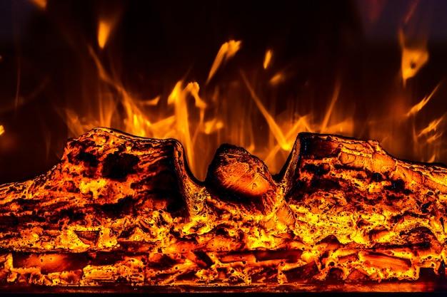 Ogień elektryczny z bliska, kolor tła obrazu, poziome zdjęcie