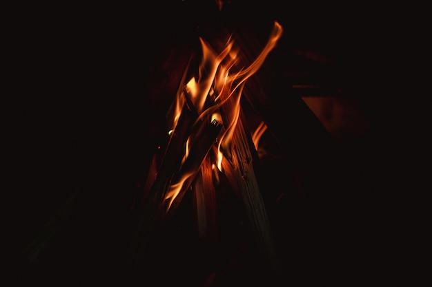 Ogień płomień ciepła spalania streszczenie teksturowane