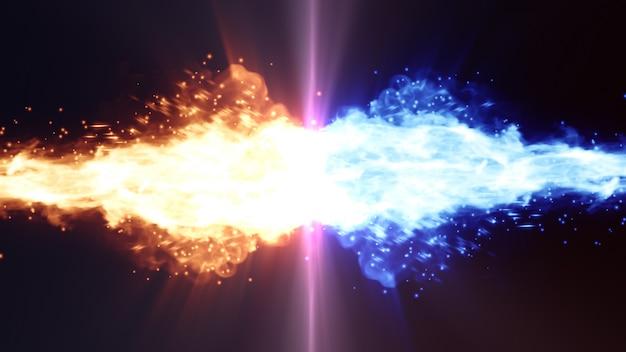 Ogień vs lód tło