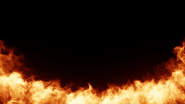 Ogień w tle