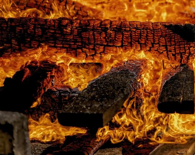 Ogień z bliska