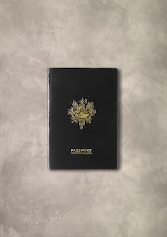 Ogólny czarny paszport