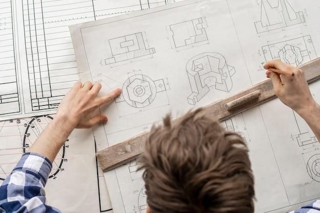 Ogólny widok projektanta graficznego narysuj wykres b