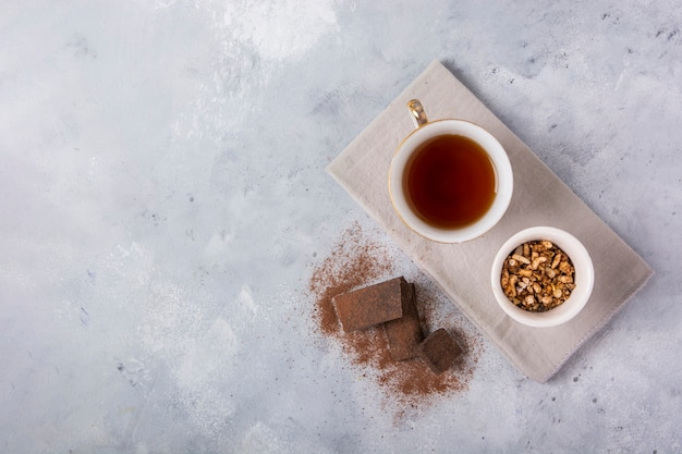 Ogólny widok przestrzeni kopii herbaty