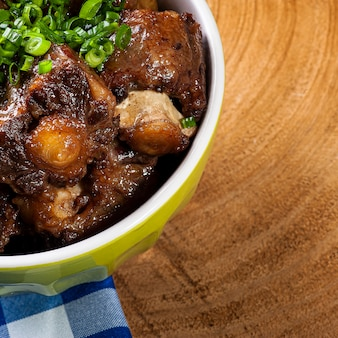 Ogon wołowy. typowe danie kuchni brazylijskiej.