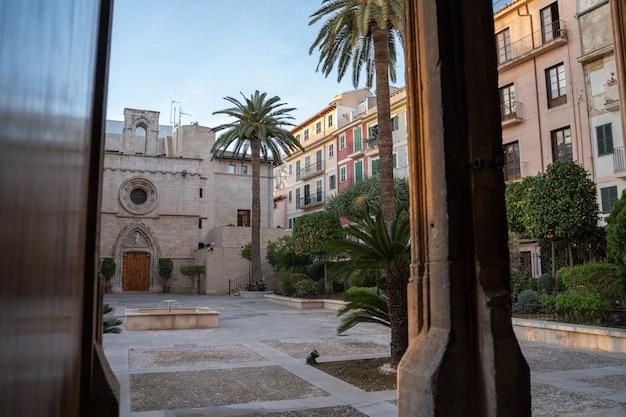 Ogrody la lonja palma de mallorca w ciągu dnia, hiszpania
