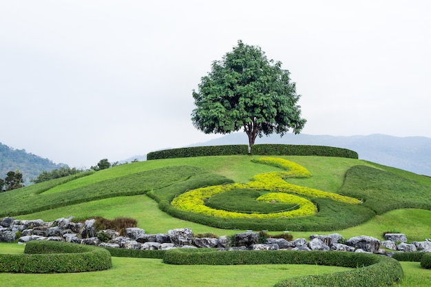 Ogrody ozdobne harmonijnie komponują się z naturą.