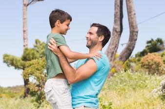 Ojciec i syn na wsi