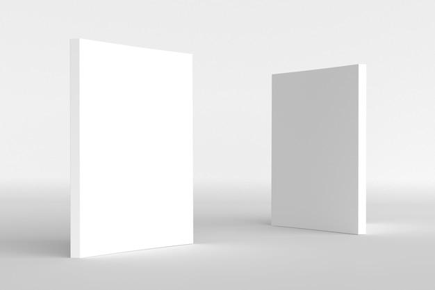 Okładka książki biała makieta ilustracja renderowania 3d zamknięta wyczyść notatnik lub magazyn