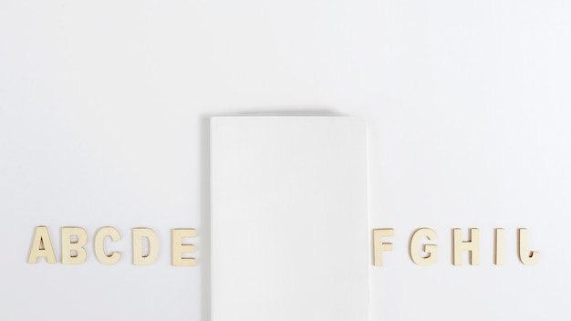 Okładka makieta z alfabetu