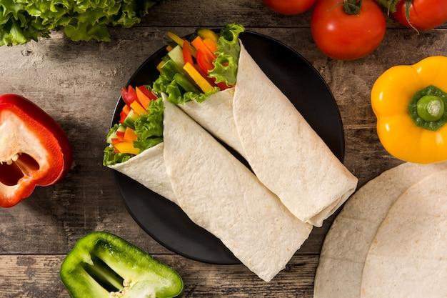 Okłady warzywne z tortilli