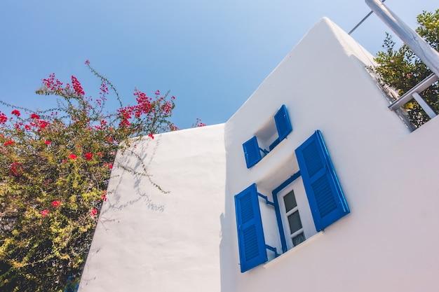 Okno aleja lato grecja cyklady