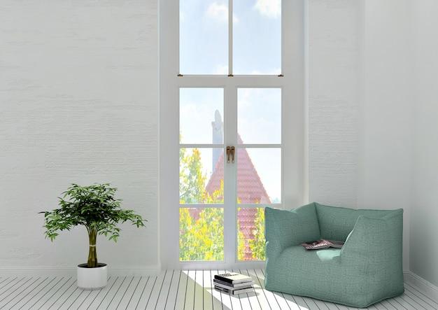 Okno i fotel