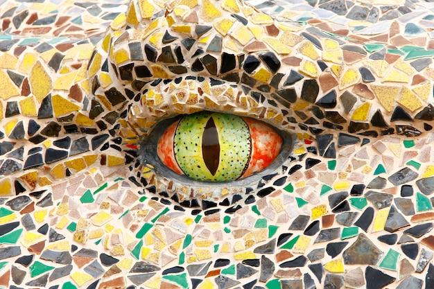 Oko krokodyla z bliska.