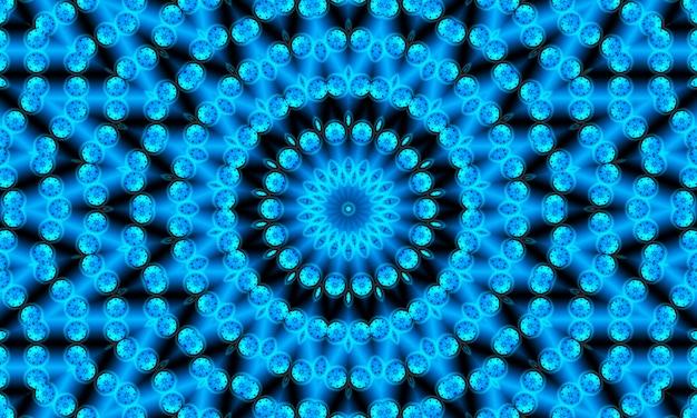 Okrągła figura w kropki. wzór z kręgów. streszczenie niebieskim tle. ilustracja. dobry wybór na tło, stronę internetową, ulotki, broszury i prezentacje w nowoczesnym stylu