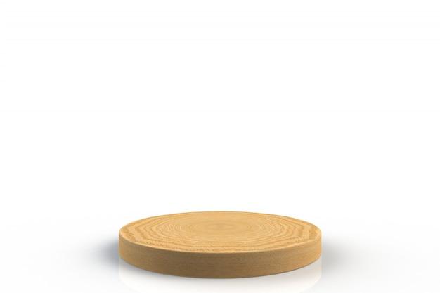 Okrągłe drewniane podium