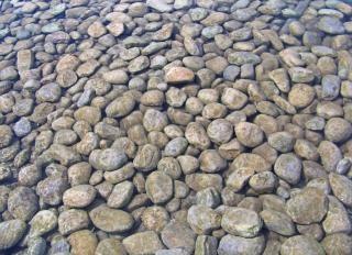 Okrągłe kamienie żwir