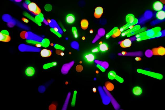 Okrągłe światła neonowe tło