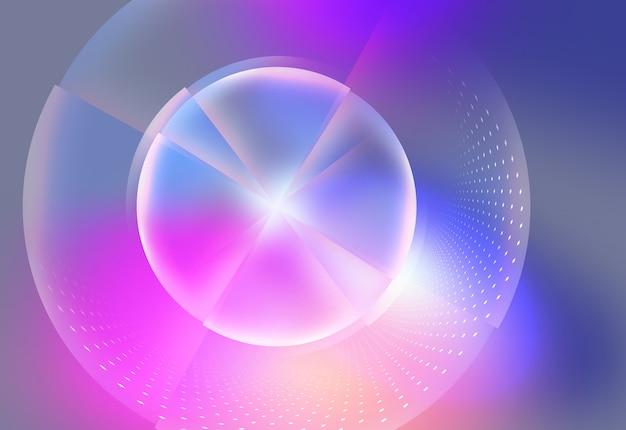 Okrągłe świecące neony, abstrakcyjne tło efekt świetlny