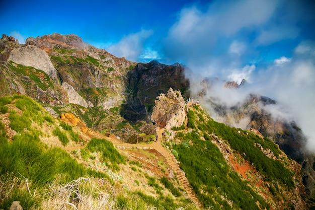 Okropne krajobrazy pico do arieiro