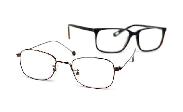 Okulary na białej przestrzeni