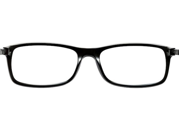 Okulary na białym tle na białym tle