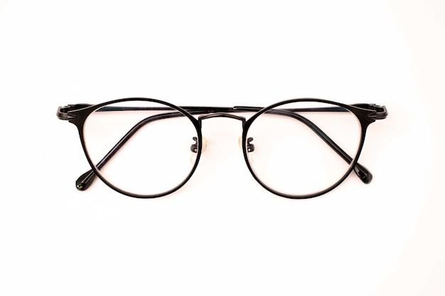 Okulary na białym tle