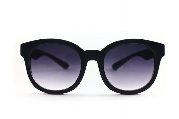 Okulary ochronne uv w kształcie koła i ciemnego koloru soczewki gradientowej