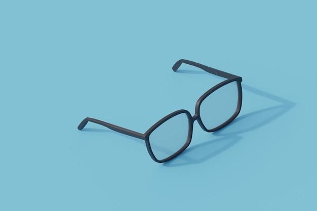 Okulary pojedynczy izolowany obiekt. 3d render ilustracji izometryczny