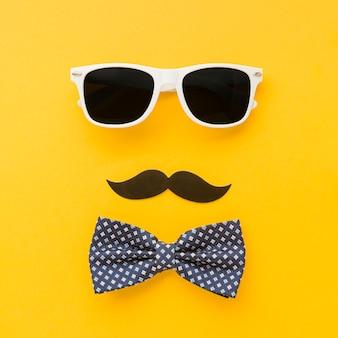 Okulary przeciwsłoneczne i kokarda na dzień ojca
