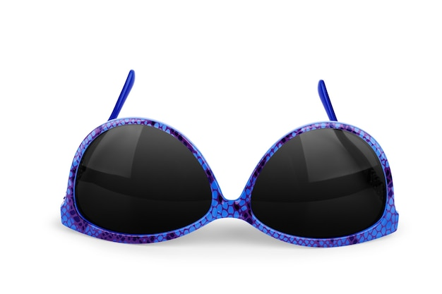 Okulary przeciwsłoneczne na białym tle na białym tle