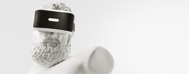 Okulary vr okulary wirtualnej rzeczywistości renderowania 3d