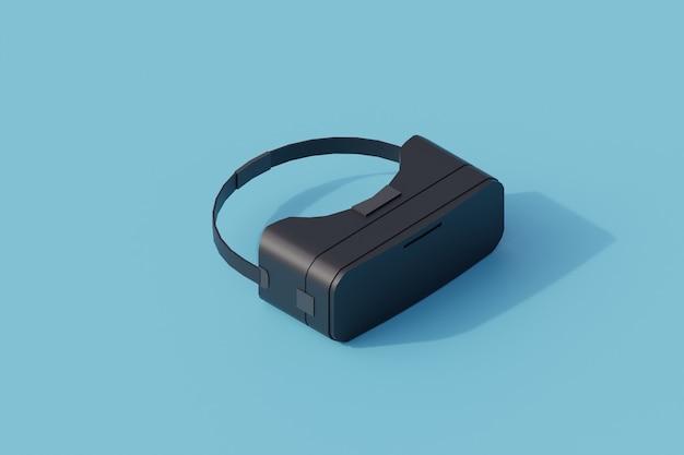 Okulary vr pojedynczy izolowany obiekt. 3d render ilustracji izometryczny